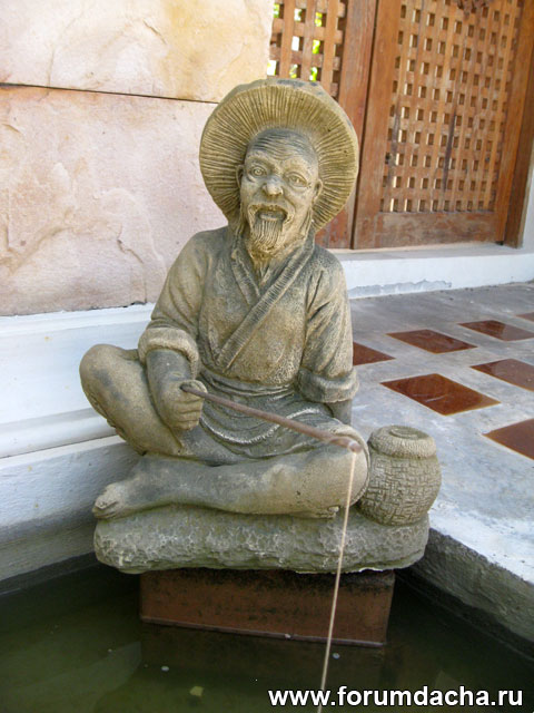 фигурка рыбака, статуя рыбака, рыбак