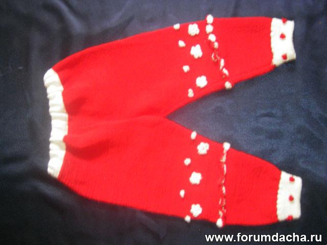 вязанные штаны