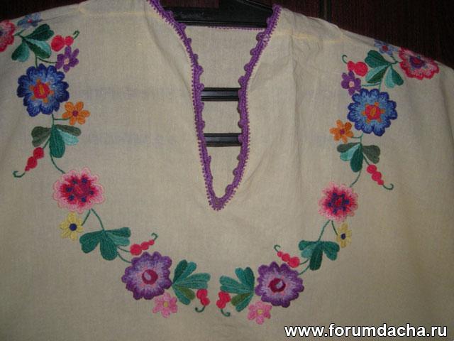 Вышивка ночной сорочки 4
