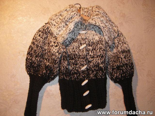 пальто вязанное, пальто вязанное спицами, пальто связанное