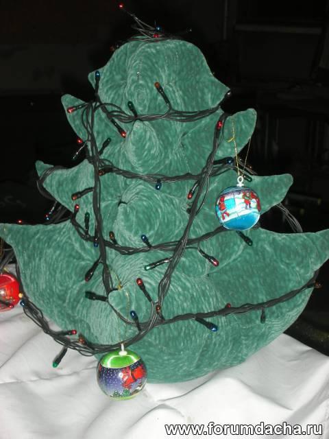 Как сшить ёлку из ткани, Самодельная елка