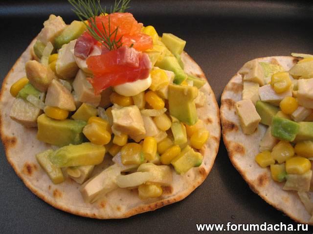 Блюда с авокадо, Салат из авокадо