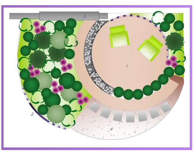 план сада, план для ландшафтных работ