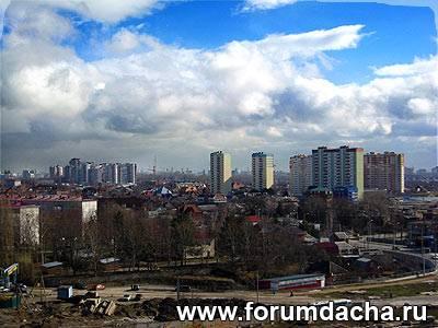 Краснодар в феврале солнечный день.